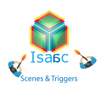Working with scenes and triggers in Isaac